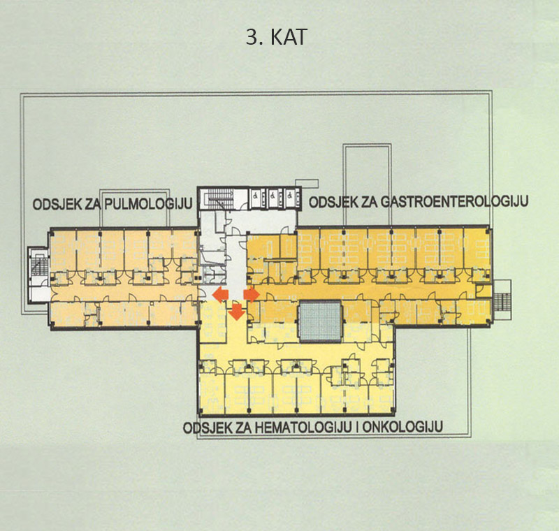 Plan bolnice - 3. kat