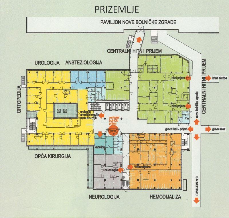 Plan bolnice - prizemlje