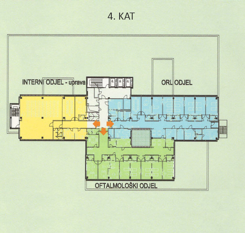 Plan bolnice - 4. kat
