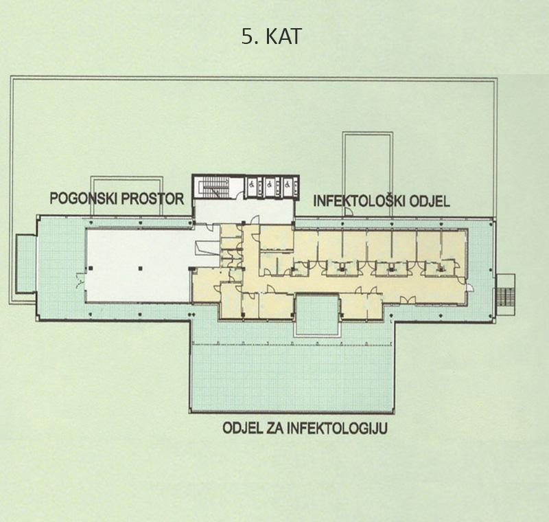 Plan bolnice - 5. kat